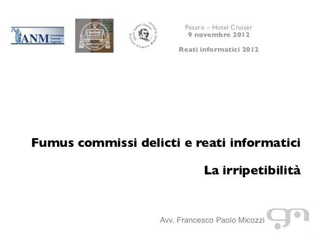 Pesaro - Reati Informatici 2012