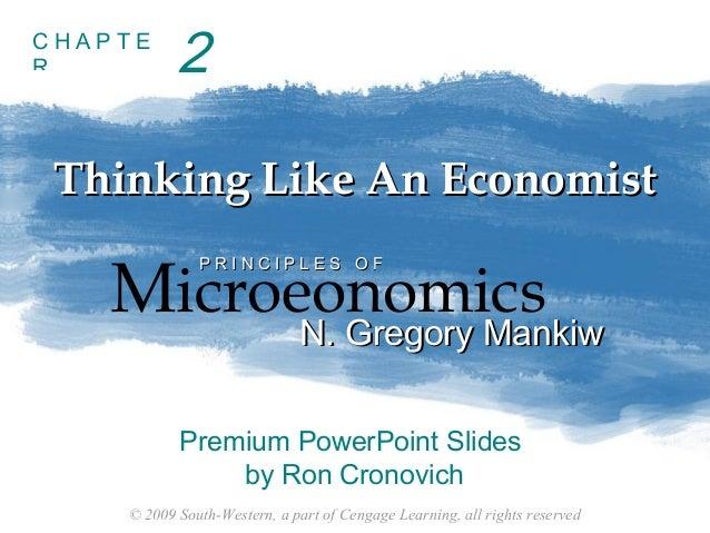 Principles of economics (Chapter 2)