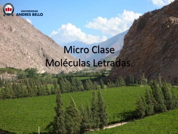 Micro ClaseMoléculas Letradas.                      1