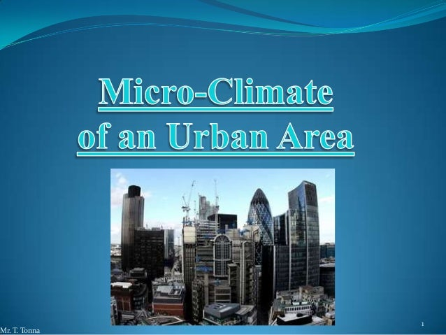 Lesson 4: Micro-Climate of an Urban Area