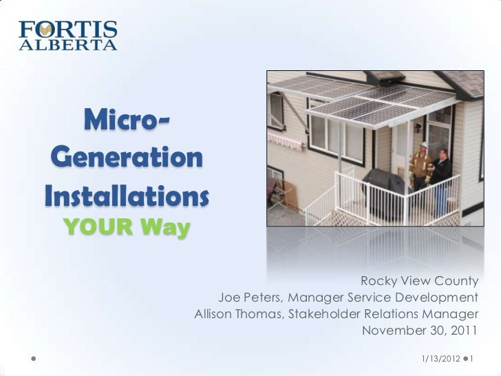 Micro-Generation Installations Your Way