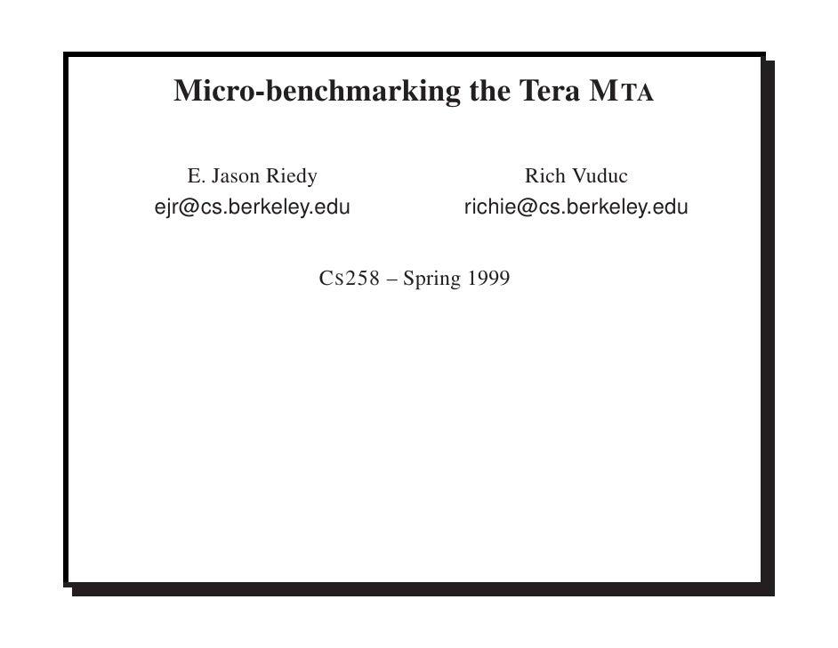 Micro-benchmarking the Tera MTA