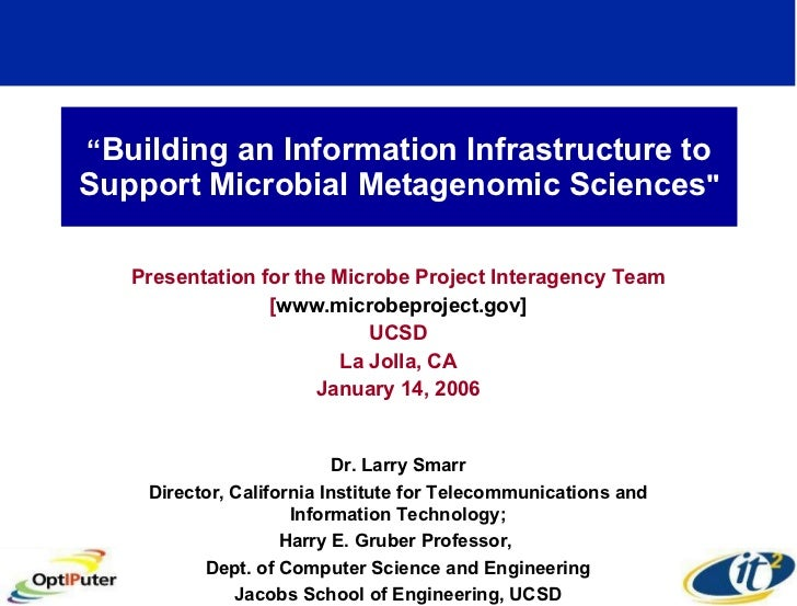 """ Building an Information Infrastructure to Support Microbial Metagenomic Sciences "" Presentation for the Microbe Pro..."