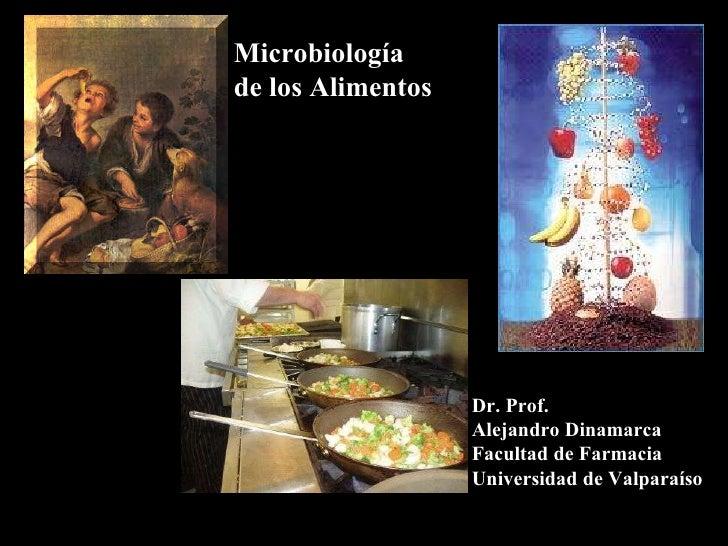 Microbiología  de los Alimentos Dr. Prof. Alejandro Dinamarca Facultad de Farmacia Universidad de Valparaíso