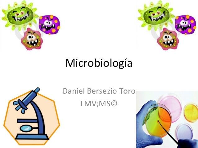 Microbiología Daniel Bersezio Toro LMV;MS©