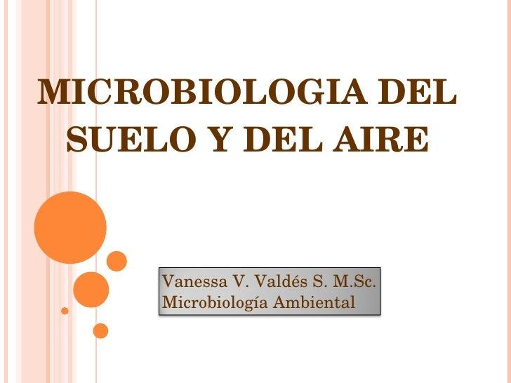 MICROBIOLOGIA DEL SUELO Y DEL AIRE Vanessa V. Valdés S. M.Sc. Microbiología Ambiental