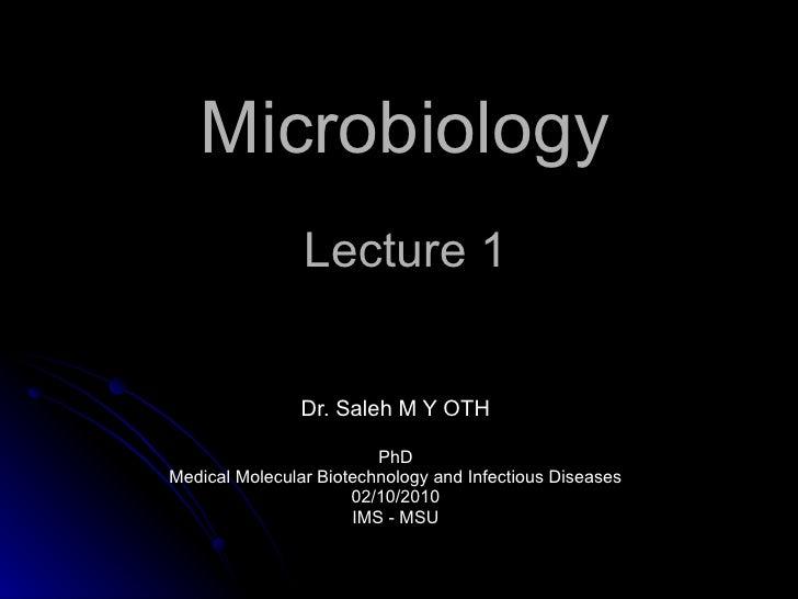 Microbiology   lec1