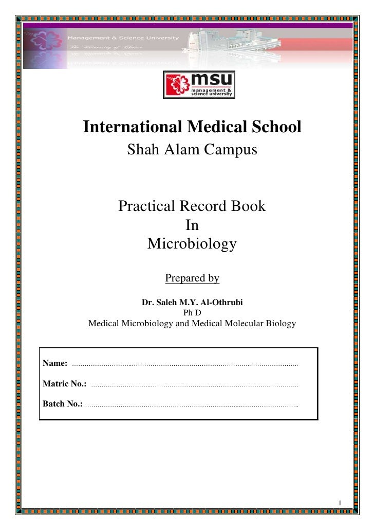 microbiology lab report Download and print this brochure (pdf) and use it as a quick guide when you are writing your paper includes information about when to cite resources and how to paraphrase an article for your paper meet with a librarian i am available to meet and answer your questions about how to prevent plagiarism.