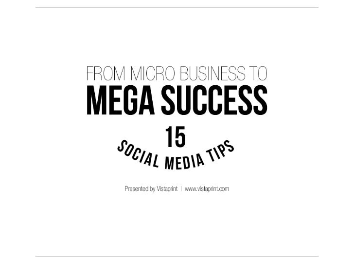 15 Social Media Tips for Micro Businesses