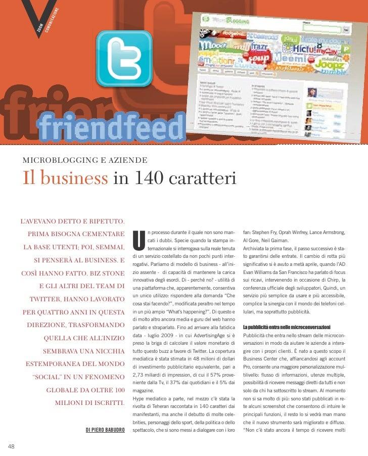 Microblogging e aziende: il business in 140 caratteri
