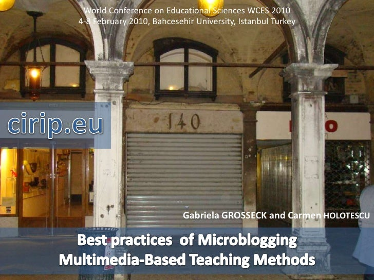 Microblogging Multimedia Based Teaching Methods