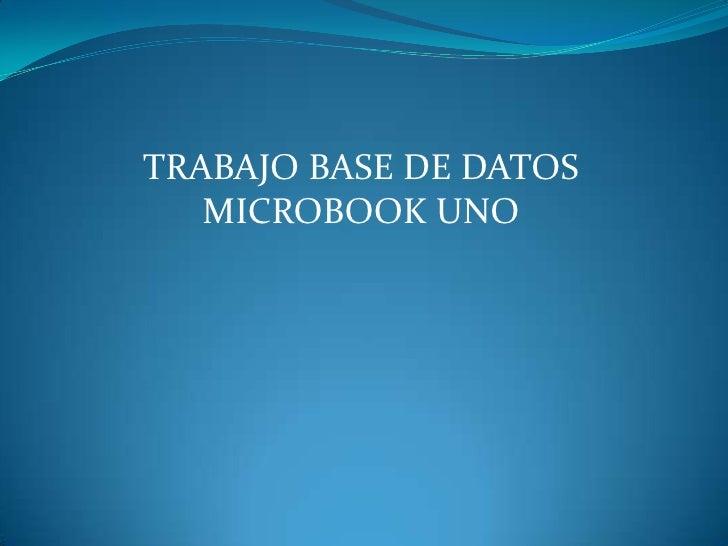 TRABAJO BASE DE DATOS   MICROBOOK UNO