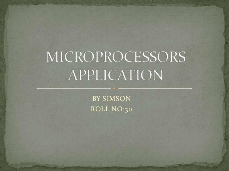 Microcessor aplication