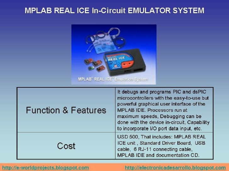 Microchip's Emulators And Debuggers