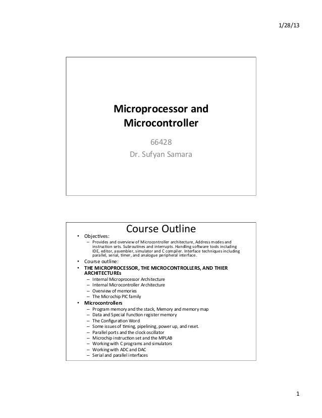 Micro controller & Micro processor