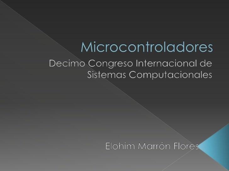    Este taller presenta una introducción al     panorama actual tecnológico en     referencia a los microcontroladores;  ...
