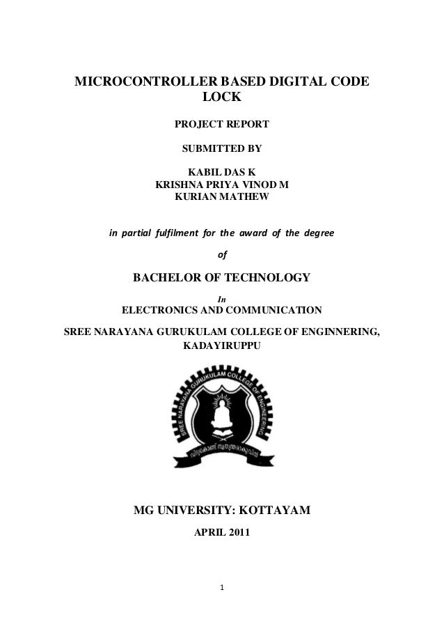 thesis on microcontroller Implementation of an 8-bit microcontroller with system c a thesis submitted to the graduate school of natural and applied sciences of middle east technical university.