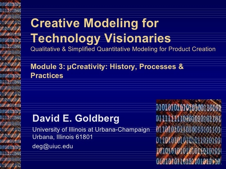microCreativity: History, Processes & Practices