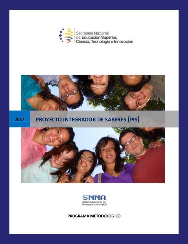 Micro curriculo proyecto integrador de saberes 2013