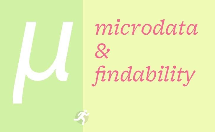μ   microdata    &    findability