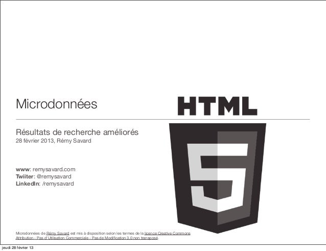 Résultats de recherche améliorés avec les microdonnées HTML5