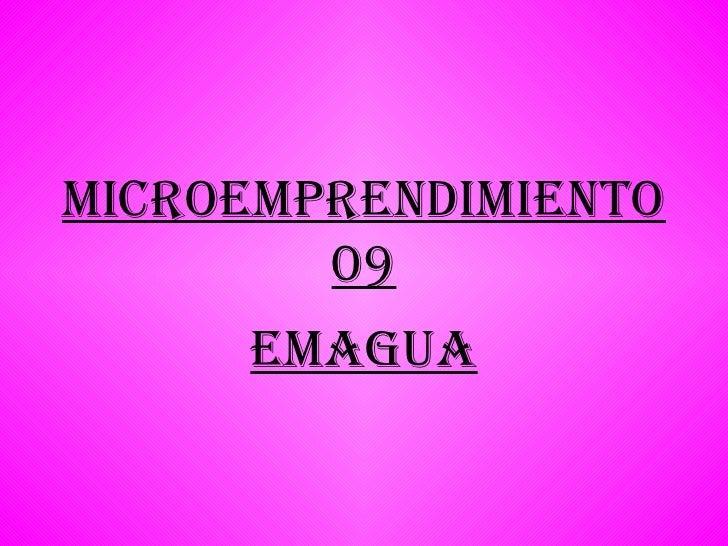 Microemprendimiento 09 Emagua