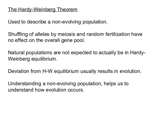 hardy weinberg notes Topic 6: evolution – 6d hardy-weinberg lab resources: miller  the hardy-weinberg principle states that the frequency of an allele in a note, this was not.