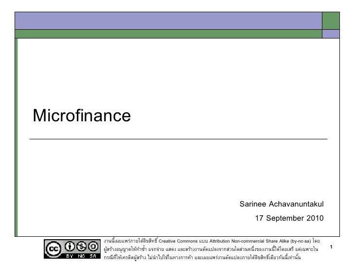 Microfinance                                                                         Sarinee Achavanuntakul               ...
