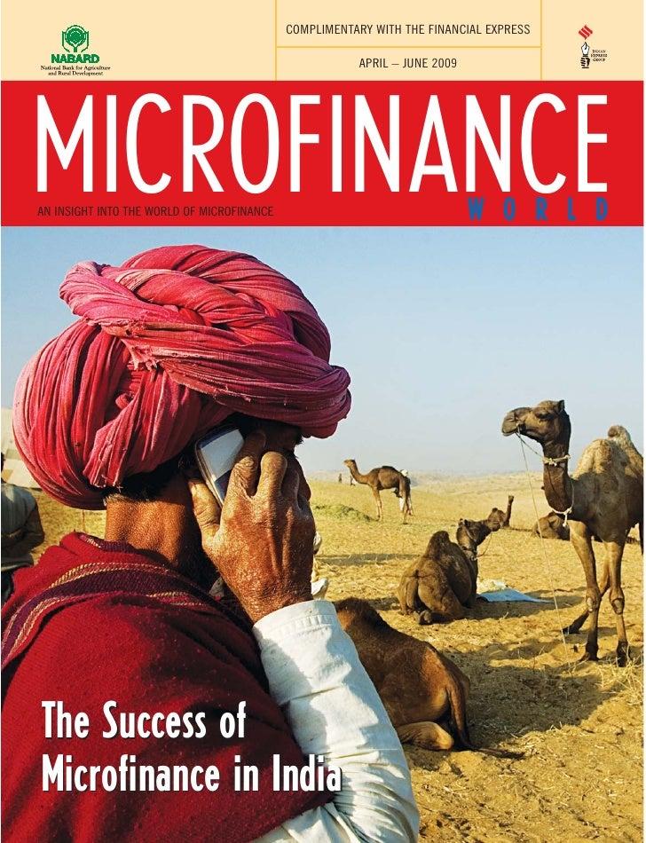 Microfinance World April June 2009