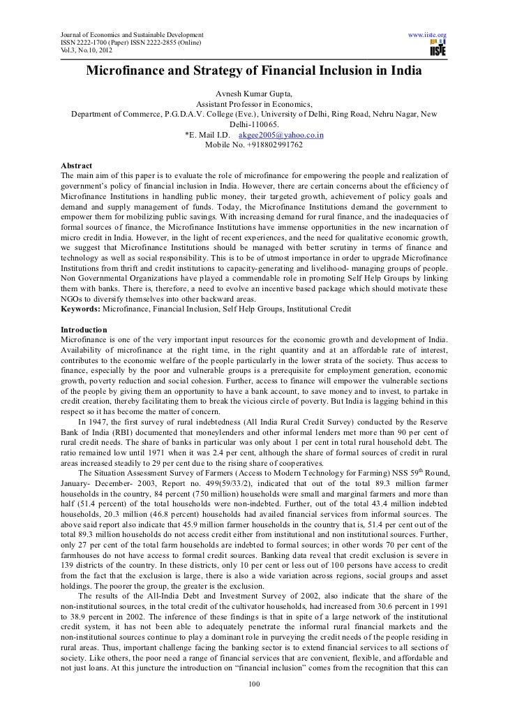 Journal of Economics and Sustainable Development                              inable                                      ...