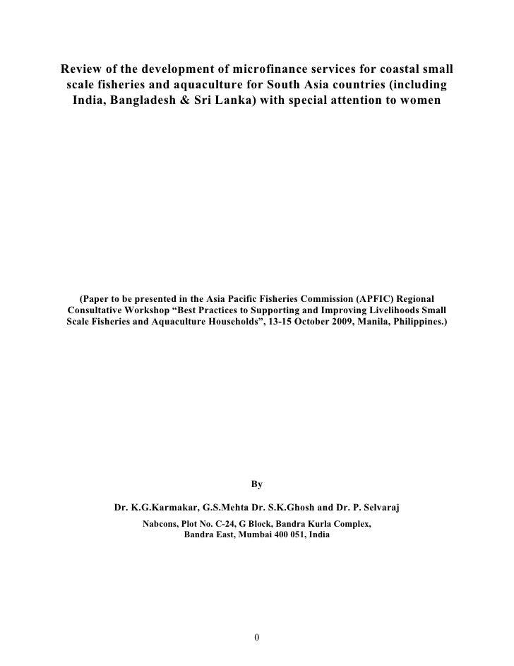 Microfinance Coasta Aquaculture Review Paper