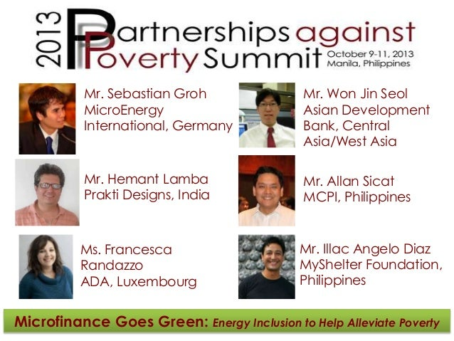 Microfinance goes green   energy inclusion to help alleviate poverty