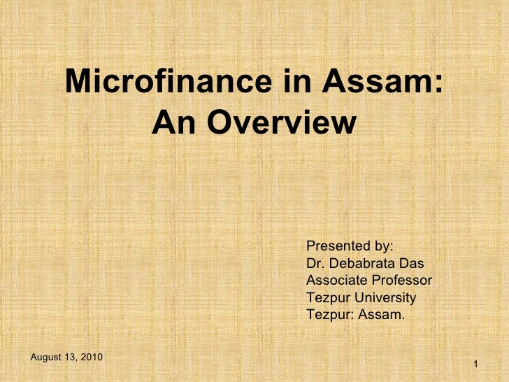 Microfinance in assam