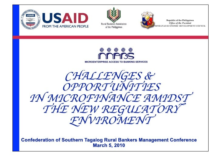 Microfinance Opportunities Amidst The New Regulatory Environment 2010