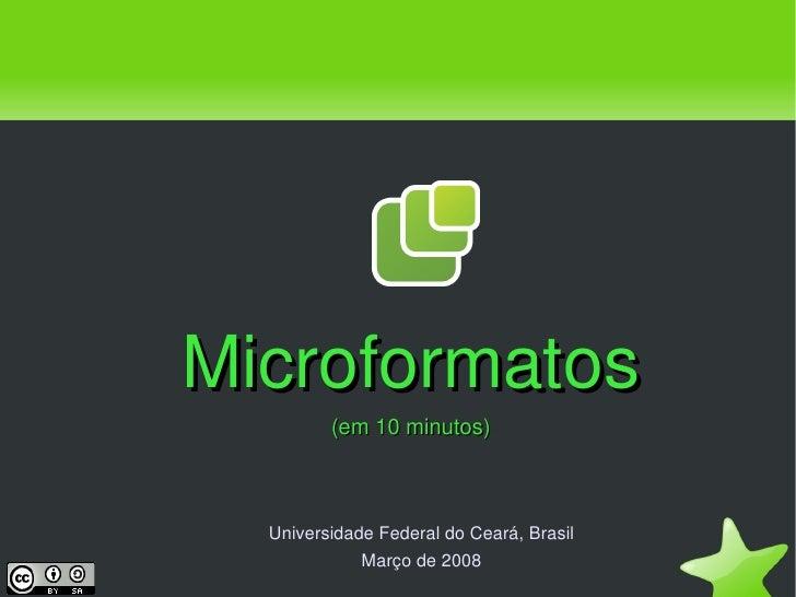 Microformatos em 10 minutos