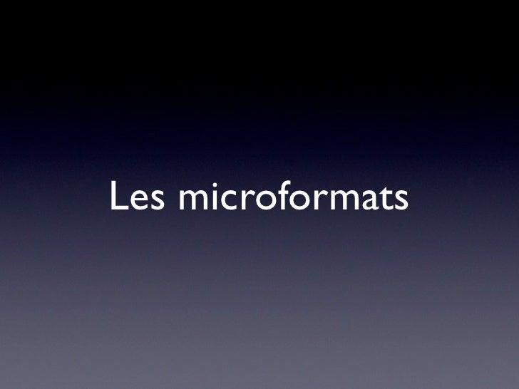 Les microformats