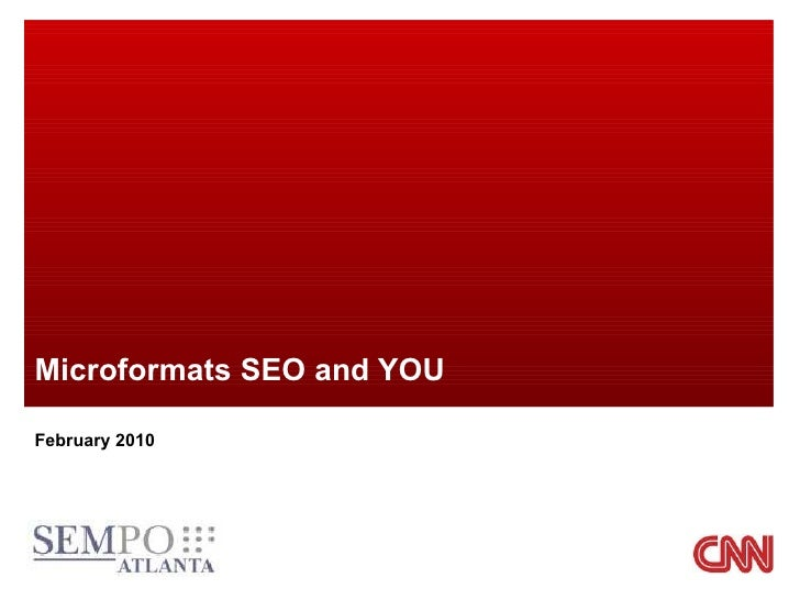 Microformats SEO and YOU February 2010