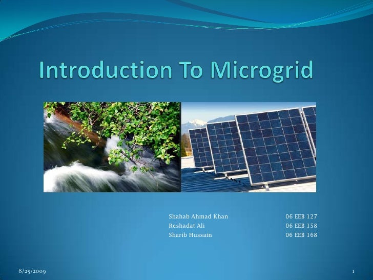 Introduction To Microgrid<br />8/25/2009<br />1<br />