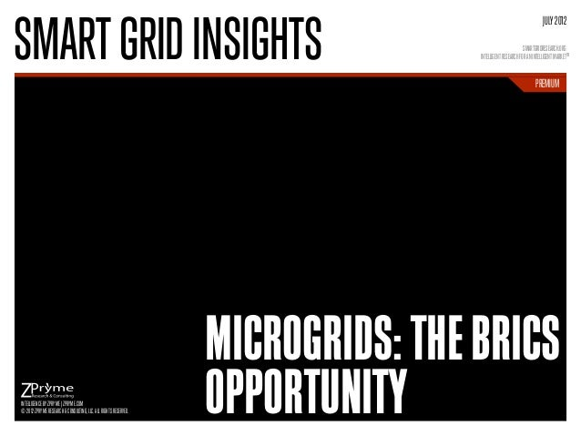 [Smart Grid Market Research] Microgrids: The BRICS Opportunity - Zpryme Smart Grid Insights