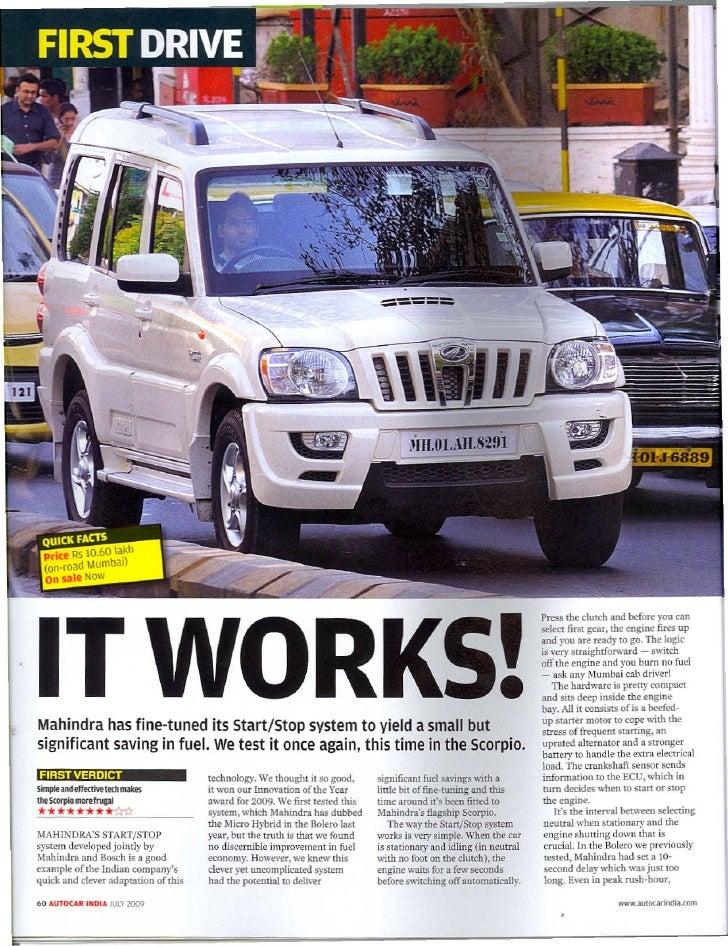 Micro Hybrid Technology Micro Hybrid in Mahindra