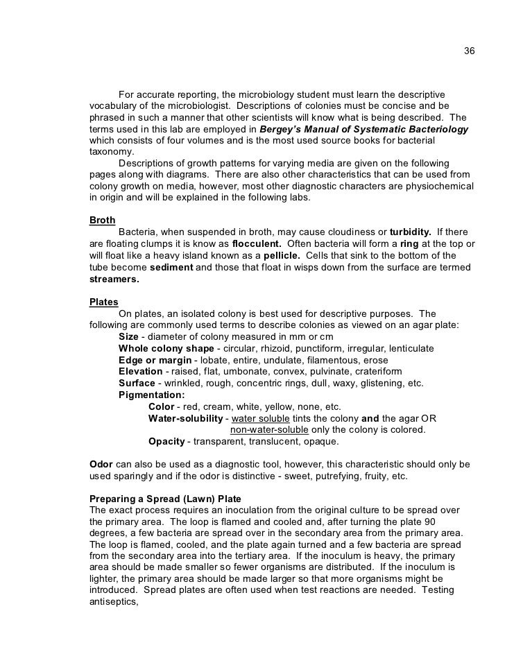 unknown lab report microbiology essay Identification of an unknown bacterium and writing up a report a standard part of nearly all lab courses in introductory microbiology unknown bacterium.