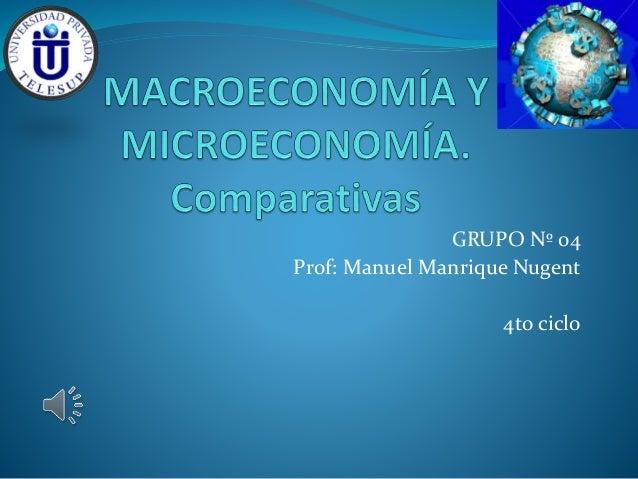 GRUPO Nº 04  Prof: Manuel Manrique Nugent  4to ciclo