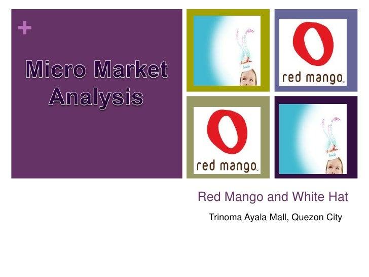 +    Red Mango and White Hat     Trinoma Ayala Mall, Quezon City