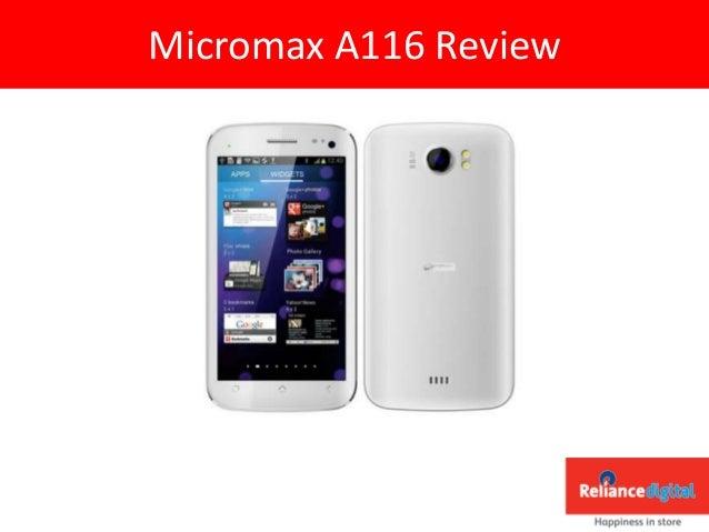 Micromax a116 reliance digital