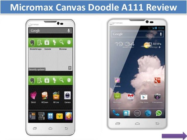 Micromax Canvas Doodle A111 Review