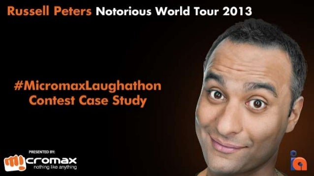 The Premise Micromax Mobile was the title sponsor of Russell Peters Notorious World Tour 2013 And to engage our fans, we d...