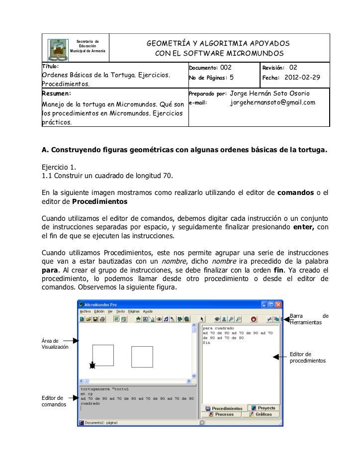 Secretaria de                     Educación         GEOMETRÍA Y ALGORITMIA APOYADOS                                       ...