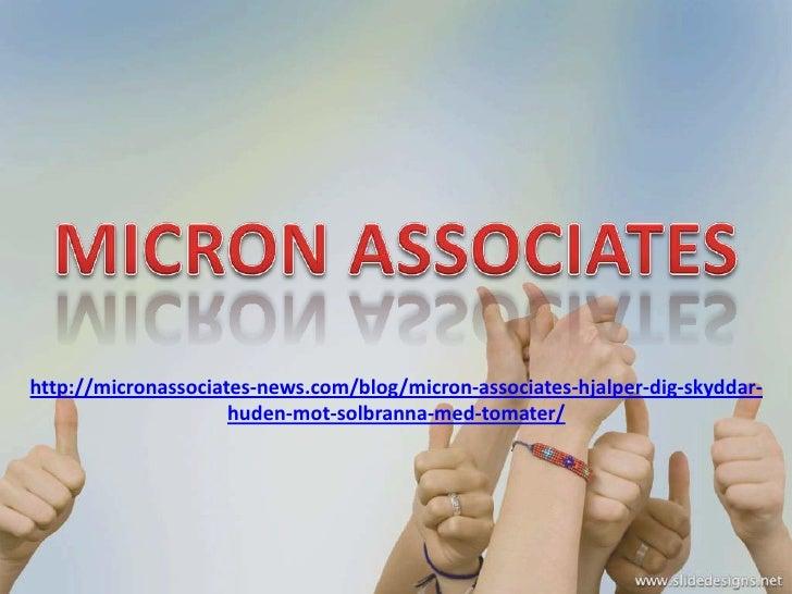 Micron Associates hjälper dig skyddar huden mot solbränna med tomater