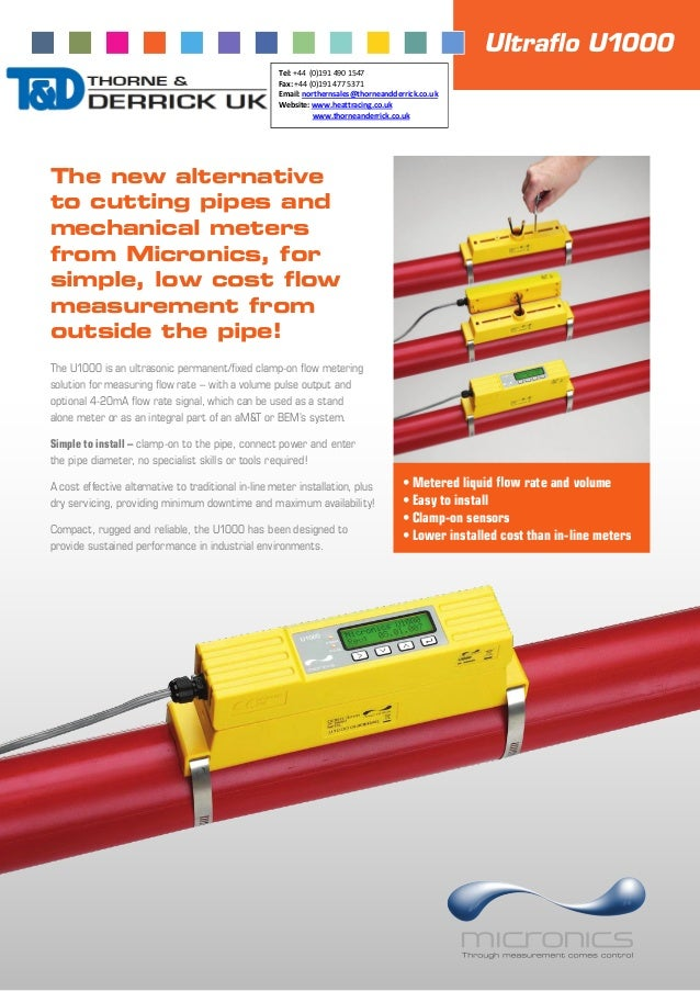 The new alternative to cutting pipes and mechanical meters from Micronics, for simple, low cost flow measurement from outsi...