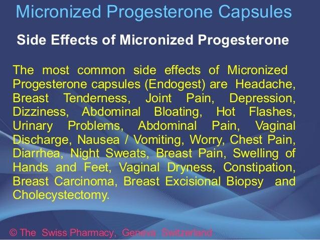 Prometrium 100mg Capsules Side Effects